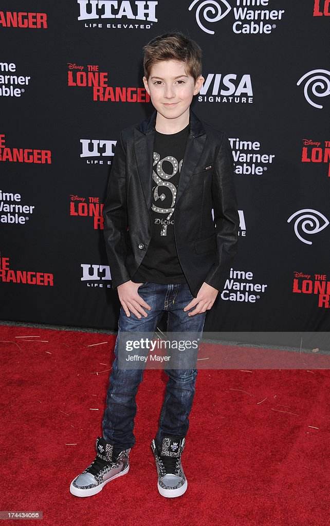 Actor Mason Cook arrives at 'The Lone Ranger' World Premiere at Disney's California Adventure on June 22, 2013 in Anaheim, California.