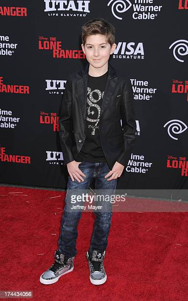 Actor Mason Cook arrives at 'The Lone Ranger' World Premiere at Disney's California Adventure on June 22 2013 in Anaheim California