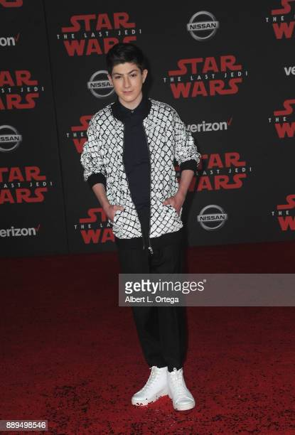Actor Mason Cook arrives for the Premiere Of Disney Pictures And Lucasfilm's 'Star Wars The Last Jedi' held at The Shrine Auditorium on December 9...