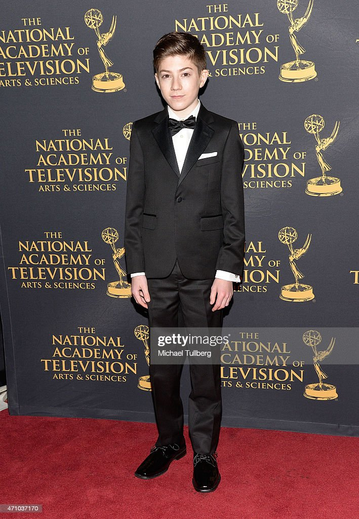 Actor Mason Cook attends the 42nd Annual Daytime Creative Arts Emmy Awards at Universal Hilton Hotel on April 24, 2015 in Universal City, California.