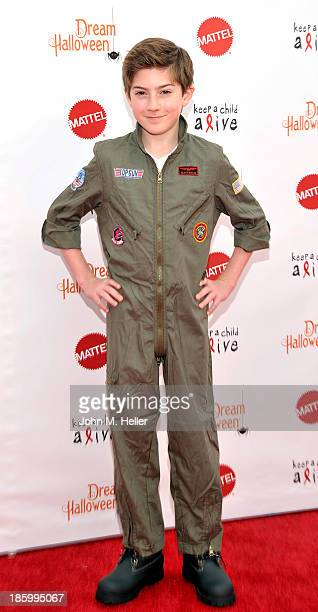 Actor Mason Cook attends the Keep A Child Alive's 20th Annual Dream Haloween at the Barker Hangar on October 26 2013 in Santa Monica California