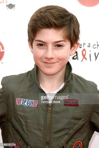 Actor Mason Cook attends the Keep A Child Alive's 20th annual Dream Halloween held at the Barker Hangar on October 26 2013 in Santa Monica California