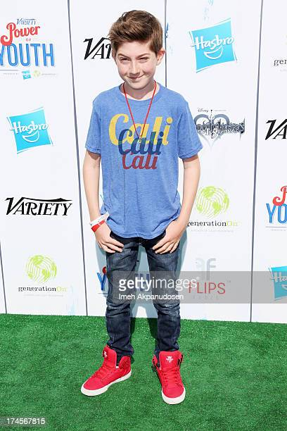 Actor Mason Cook attends Variety's Power of Youth presented by Hasbro Inc and generationOn at Universal Studios Backlot on July 27 2013 in Universal...