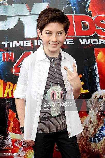 Actor Mason Cook on the red carpet for the premiere of 'Spy Kids 4' at The Long Center on August 13 2011 in Austin Texas