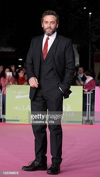 Actor Massimo Poggio attends 'K2 La Montagna degli Italiani' Premiere during the 2012 RomaFictionFest at Auditorium Parco della Musica on October 2...