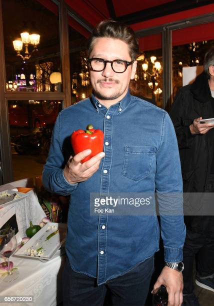 Actor Mathias Van Khache attends 'Apero Mecs A Legumes' Party Hosted by Grand Seigneur Magazine at the Bistrot Marguerite on March 22 2017 in Paris...