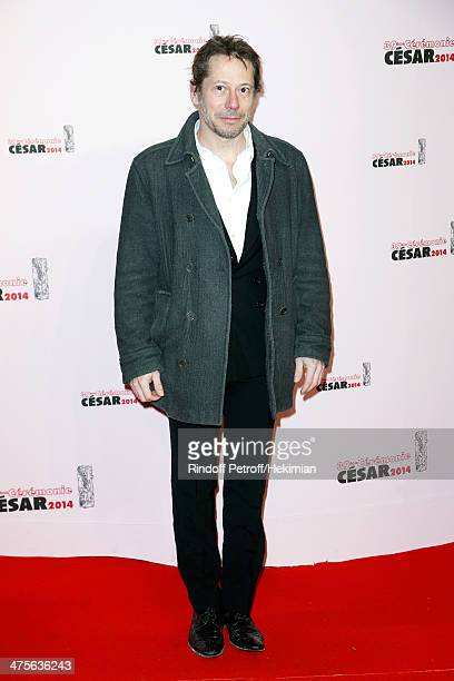 Actor Mathieu Amalric arrives for the 39th Cesar Film Awards 2014 at Theatre du Chatelet on February 28 2014 in Paris France