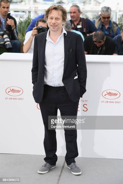 Actor Mathieu Amalric attends 'Barbara' Photocall during the 70th annual Cannes Film Festival at Palais des Festivals on May 18 2017 in Cannes France