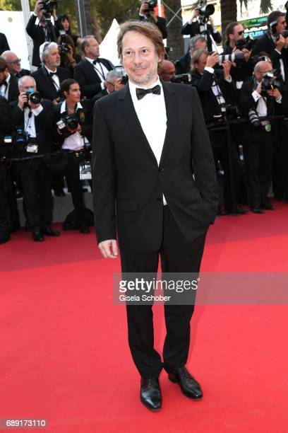 Actor Mathieu Amalric attends the 'Based On A True Story' screening during the 70th annual Cannes Film Festival at Palais des Festivals on May 27...