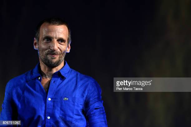 Actor Mathieu Kassovitz receives the Moet Chandon Award during the 70th Locarno Film Festival on August 5 2017 in Locarno Switzerland