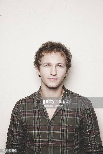 Actor Mathieu Spinosi is photographed for Self Assignment on October 11 2014 in Paris France