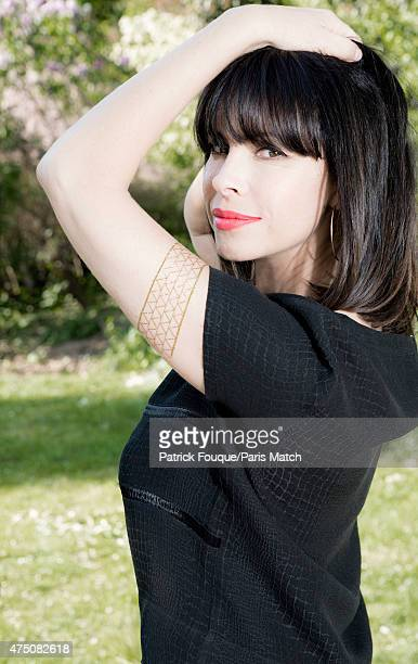 Actor Mathilda May is photographed for Paris Match on April 22 2015 in Paris France