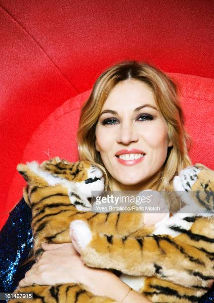 Actor Mathilde Seigner is photographed for Paris Match on January 11 2013 in Paris France