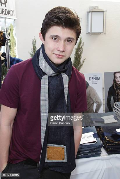 Actor Matias Ward attends the DPA PreGolden Globe Awards Gift Suite at the Luxe Hotel on January 10 2014 in Beverly Hills California