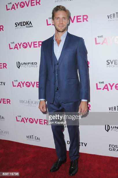 Actor Matt Barr arrives at Los Angeles Premiere 'The Layover' at ArcLight Hollywood on August 23 2017 in Hollywood California