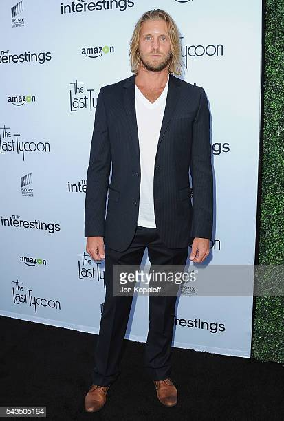Actor Matt Barr arrives at Sony Pictures Television Social Soiree Featuring Amazon Pilots 'The Last Tycoon' And 'The Interestings' at Sony Pictures...