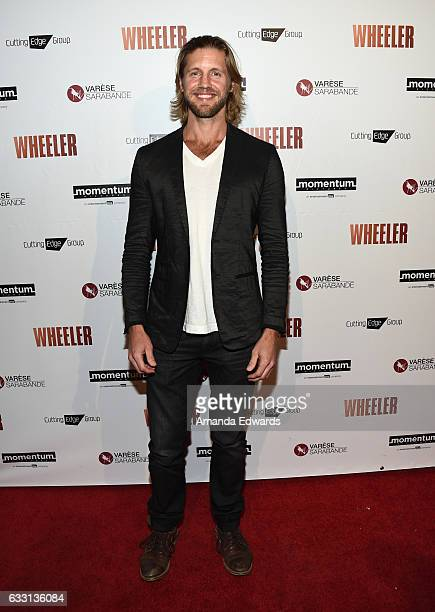Actor Matt Barr arrives at the premiere of Momentum Pictures' 'Wheeler' at the Vista Theatre on January 30 2017 in Los Angeles California