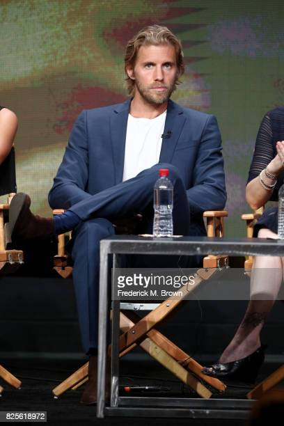 Actor Matt Barr of 'Valor' speaks onstage during the CW portion of the 2017 Summer Television Critics Association Press Tour at The Beverly Hilton...