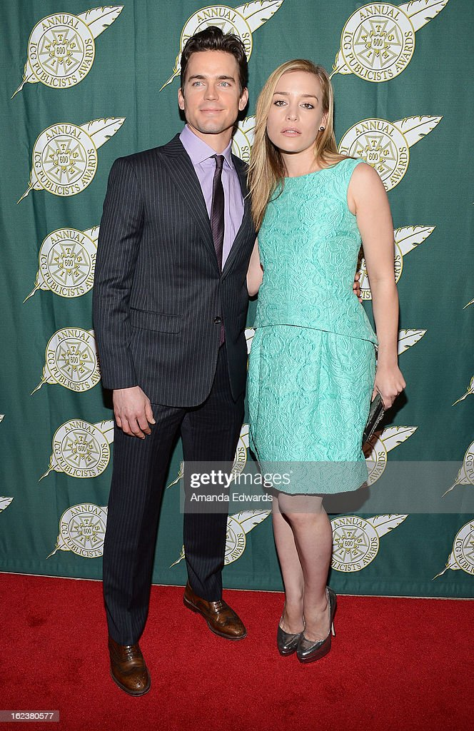 Actor Matt Bomer (L) and actress Piper Perabo arrive at the ICG 50th Annual Publicists Awards at The Beverly Hilton Hotel on February 22, 2013 in Beverly Hills, California.