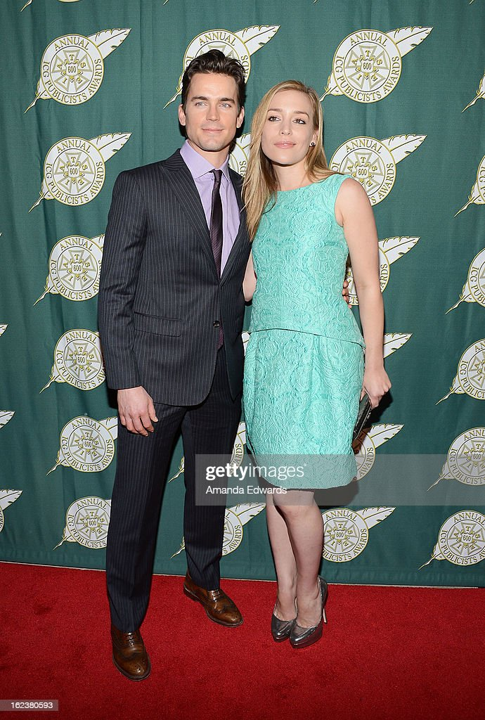 Actor <a gi-track='captionPersonalityLinkClicked' href=/galleries/search?phrase=Matt+Bomer&family=editorial&specificpeople=2960058 ng-click='$event.stopPropagation()'>Matt Bomer</a> (L) and actress <a gi-track='captionPersonalityLinkClicked' href=/galleries/search?phrase=Piper+Perabo&family=editorial&specificpeople=240107 ng-click='$event.stopPropagation()'>Piper Perabo</a> arrive at the ICG 50th Annual Publicists Awards at The Beverly Hilton Hotel on February 22, 2013 in Beverly Hills, California.