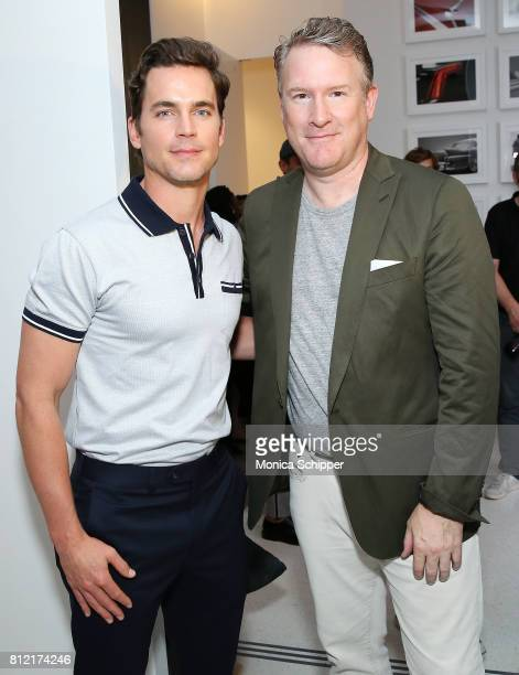 Actor Matt Bomer and fashion designer Todd Snyder pose for a photo backstage at the Todd Snyder fashion show during NYFW Men's July 2017 at Cadillac...