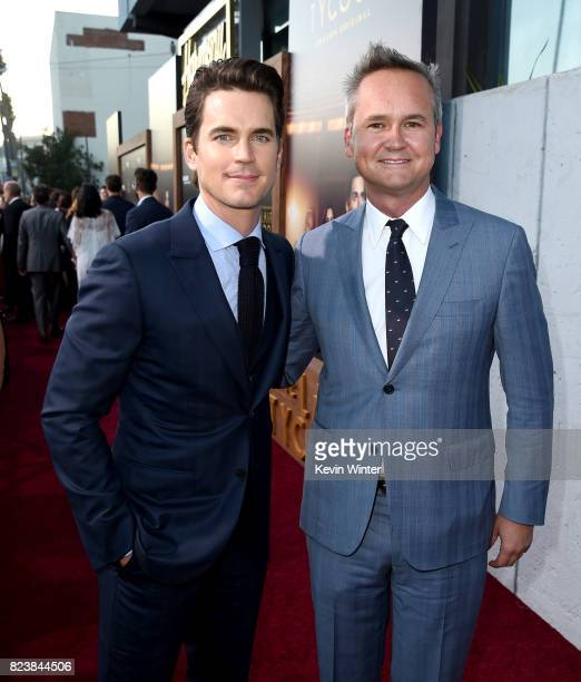 Actor Matt Bomer and Roy Price Head of Amazon Studios arrive at the premiere of Amazon Studios' 'The Last Tycoon' at the Harmony Theatre on July 27...