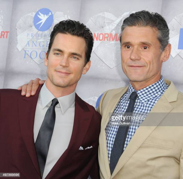 Actor Matt Bomer and Simon Halls attend the Los Angeles premiere of HBO's 'The Normal Heart' at The Writers Guild Theatre on May 19 2014 in Beverly...