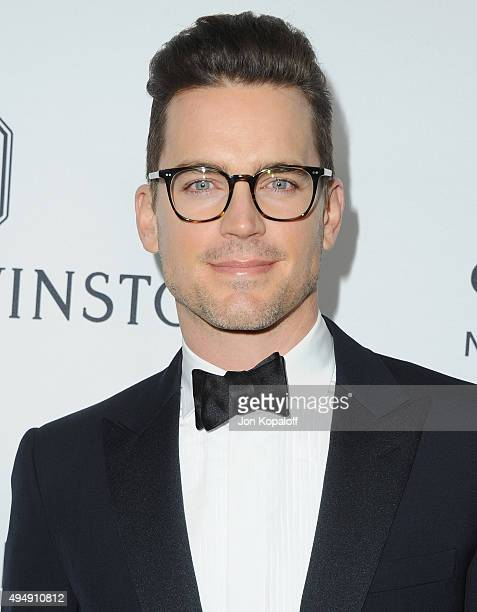 Actor Matt Bomer arrives at amfAR's Inspiration Gala Los Angeles at Milk Studios on October 29 2015 in Hollywood California
