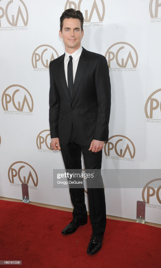 Actor Matt Bomer arrives at the 24th Annual Producers Guild Awards at The Beverly Hilton Hotel on January 26, 2013 in Beverly Hills, California.