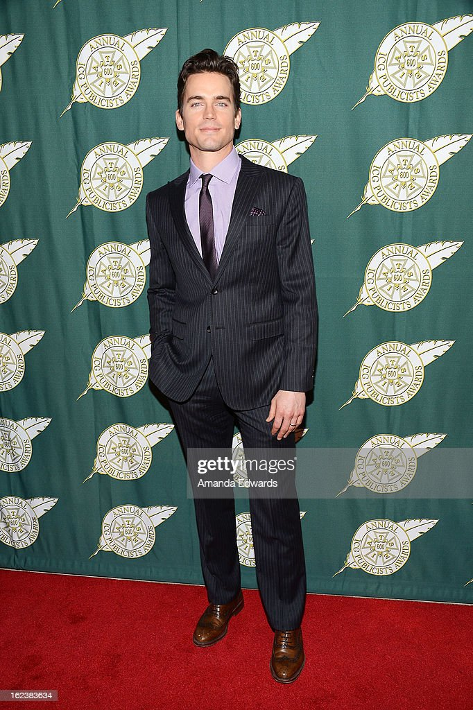 Actor Matt Bomer arrives at the ICG 50th Annual Publicists Awards at The Beverly Hilton Hotel on February 22, 2013 in Beverly Hills, California.