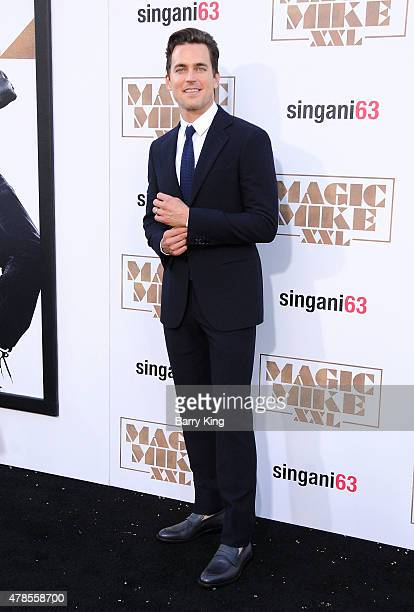 Actor Matt Bomer arrives at the Los Angeles World Premiere of Warner Bros Pictures 'Magic Mike XXL' at TCL Chinese Theatre on June 25 2015 in...