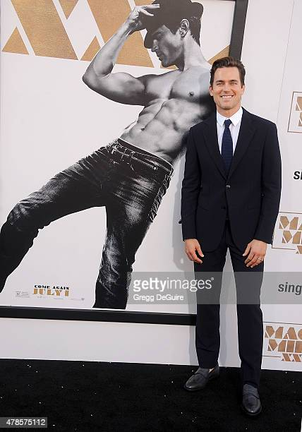 Actor Matt Bomer arrives at the Los Angeles World Premiere of Warner Bros Pictures' 'Magic Mike XXL' at TCL Chinese Theatre IMAX on June 25 2015 in...