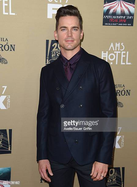 Actor Matt Bomer arrives at the premiere screening of FX's 'American Horror Story Hotel' at Regal Cinemas LA Live on October 3 2015 in Los Angeles...