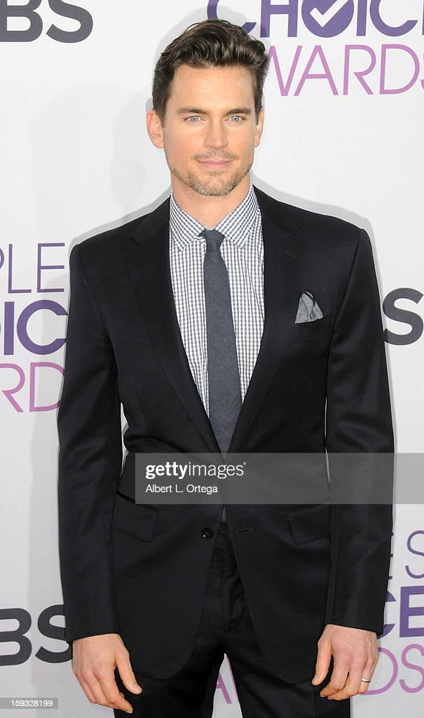 Actor Matt Bomer arrives for the 34th Annual People's Choice Awards - Arrivals held at Nokia Theater at L.A. Live on January 9, 2013 in Los Angeles, California.