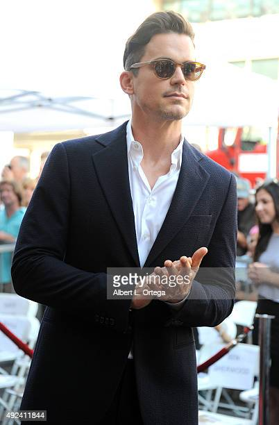 Actor Matt Bomer at the Kelly Ripa Star Ceremony on The Hollywood Walk Of Fame on October 12 2015 in Hollywood California