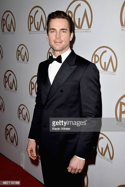 Actor Matt Bomer attends the 26th Annual Producers Guild Of America Awards at the Hyatt Regency Century Plaza on January 24 2015 in Los Angeles...