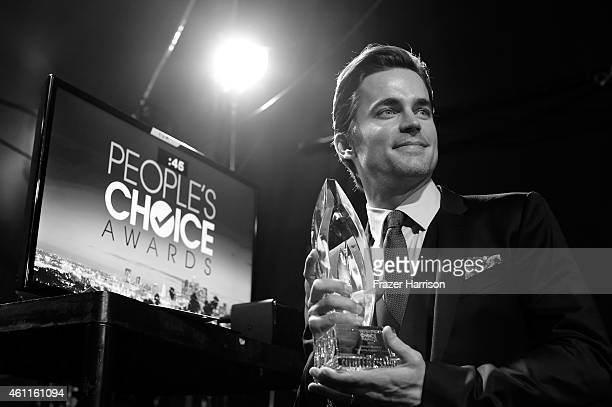 Actor Matt Bomer backstage during The 41st Annual People's Choice Awards at Nokia Theatre LA Live on January 7 2015 in Los Angeles California