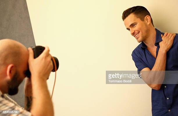 Actor Matt Bomer of FX's 'American Horror Story Hotel' attends the Getty Images Portrait Studio powered by Samsung Galaxy at 2015 Summer TCA's at The...