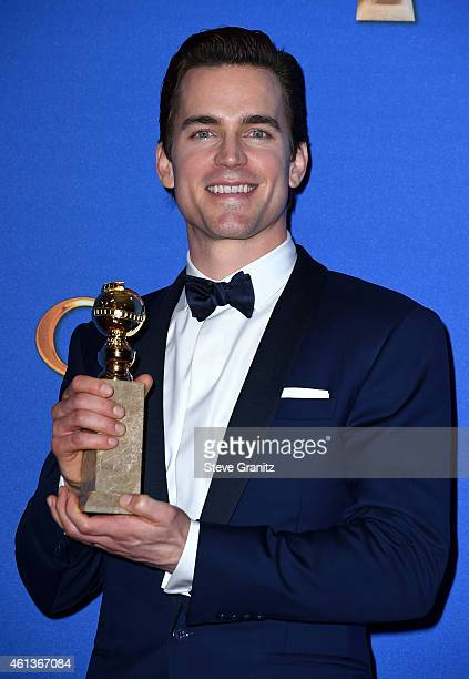 Actor Matt Bomer poses in the press room during the 72nd Annual Golden Globe Awards at The Beverly Hilton Hotel on January 11 2015 in Beverly Hills...