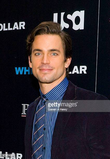 Actor Matt Bomer visits the White Collar Shirt Bar at The Channel Gardens at Rockefeller Center on October 23 2009 in New York City