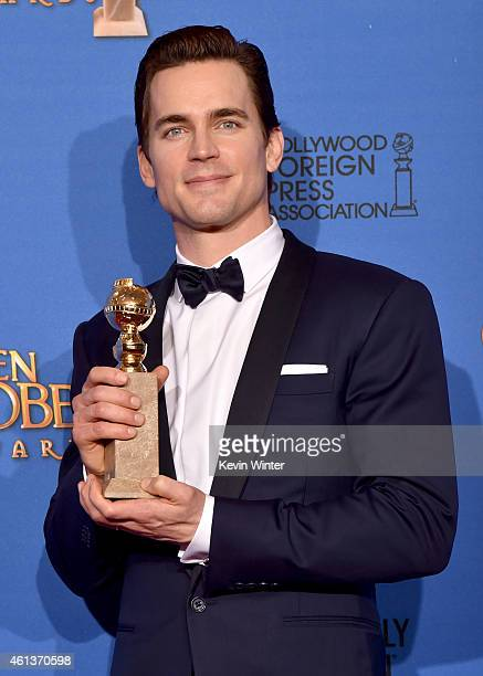 Actor Matt Bomer winner of Best Supporting Actor in a Series Miniseries or Television Film for 'The Normal Heart' poses in the press room during the...