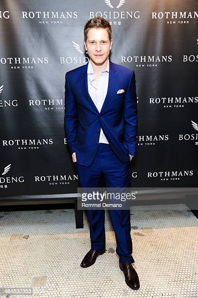 Actor Matt Czuchry attends the Bosideng Pop Up Shop event at Rothmans on January 22 2014 in New York City