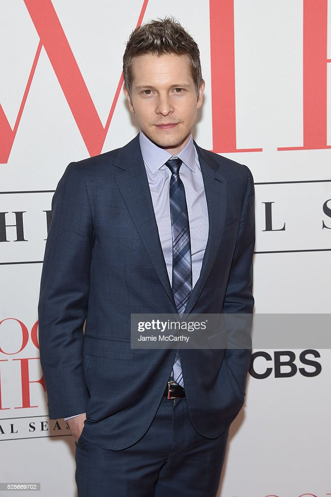 Actor Matt Czuchry attends 'The Good Wife' Finale Party at Museum of Modern Art on April 28, 2016 in New York City.