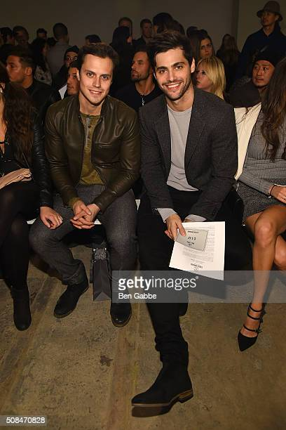 Actor Matt Daddario and guest attend the Todd Snyder fashion show during New York Fashion Week Men's Fall/Winter 2016 at Skylight at Clarkson Sq on...