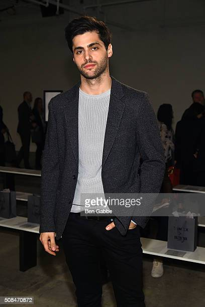 Actor Matt Daddario attends the Todd Snyder fashion show during New York Fashion Week Men's Fall/Winter 2016 at Skylight at Clarkson Sq on February 4...