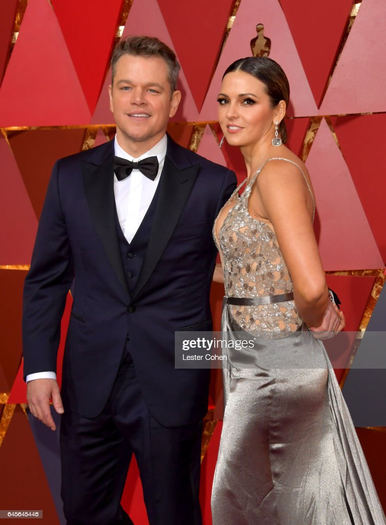Actor Matt Damon (L) and Luciana Damon attend the 89th Annual Academy Awards at Hollywood & Highland Center on February 26, 2017 in Hollywood, California.