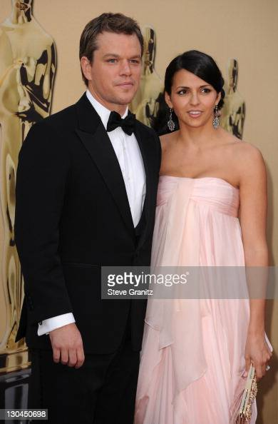 Actor Matt Damon and wife Luciana Damon arrive at the 82nd Annual Academy Awards held at the Kodak Theatre on March 7 2010 in Hollywood California