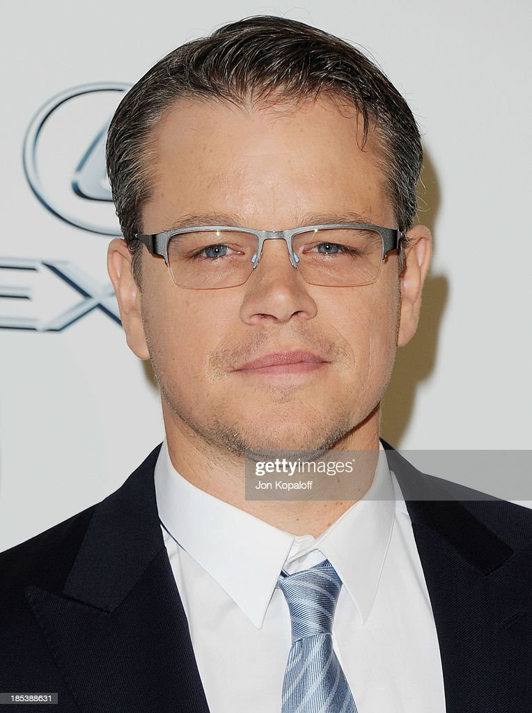 Actor <a gi-track='captionPersonalityLinkClicked' href=/galleries/search?phrase=Matt+Damon&family=editorial&specificpeople=202093 ng-click='$event.stopPropagation()'>Matt Damon</a> arrives at the 2013 Environmental Media Awards at Warner Bros. Studios on October 19, 2013 in Burbank, California.