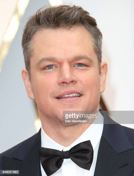 Actor Matt Damon arrives at the 89th Annual Academy Awards at Hollywood Highland Center on February 26 2017 in Hollywood California