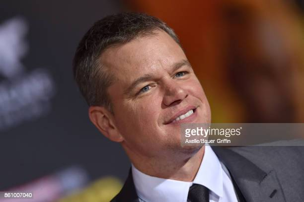 Actor Matt Damon arrives at the premiere of Disney and Marvel's 'Thor Ragnarok' at the El Capitan Theatre on October 10 2017 in Los Angeles California